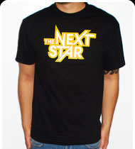 THE NEXT STAR Logo Guys T-shirt - Black
