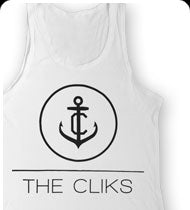 THE CLIKS -Anchor- Tank Top - White