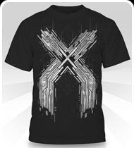 EXCISION -Metal X- Silver on Black T-Shirt