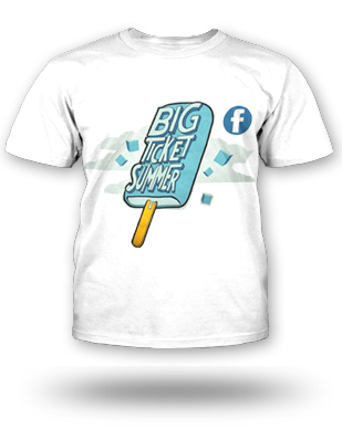 Big Ticket Summer Concert 2013 Popsicle T-shirt: Youth, White