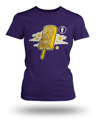 Big Ticket Summer Concert 2013 Popsicle T-shirt: Girls, Purple