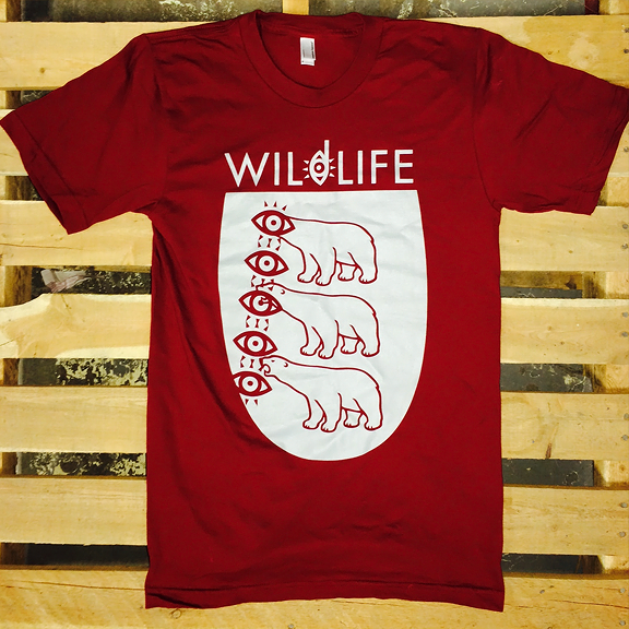 WILDLIFE -Polar Bear- Guys Maroon Tee