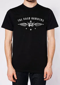 THE ROAD HAMMERS Logo Guys Black T-Shirt