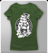 THE REAL MCKENZIES -Ship- GIRLS T-Shirt - Military Green