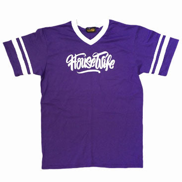 HOUSEWIFE All Day Tee - Purple / White