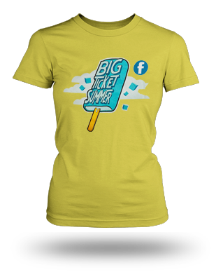 Big Ticket Summer Concert 2013 Popsicle T-shirt: Girls, Yellow