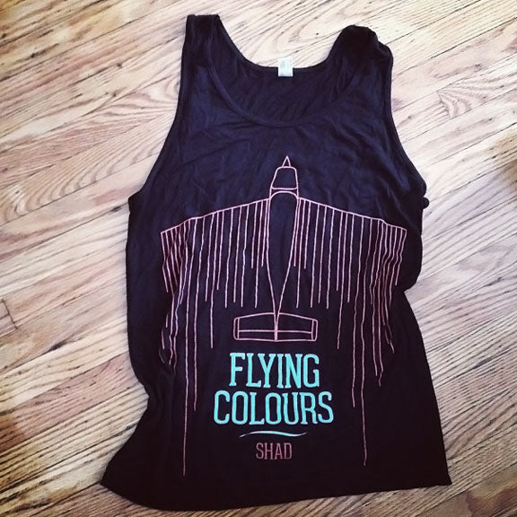 SHAD Flying Colours Black Tank Top