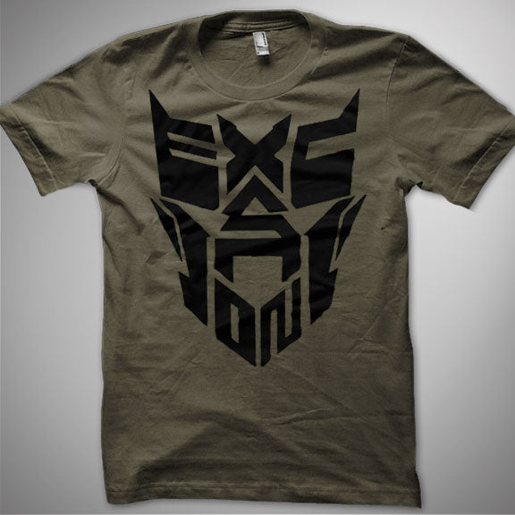 EXCISION -Robot Face- T-Shirt - Army Green