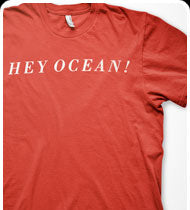 HEY OCEAN -Logo- T-Shirt - Red