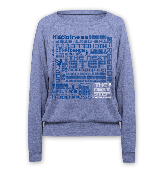 The Next Step 2015 Tour Pattern Raglan Pullover: Athletic Blue