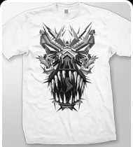 EXCISION -T-Rex- T-Shirt - White