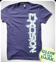EXCISION GLOW IN THE DARK Up & Down GIRLS T-Shirt - Purple