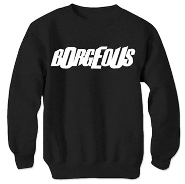 BORGEOUS -Logo- Black Crew Sweater