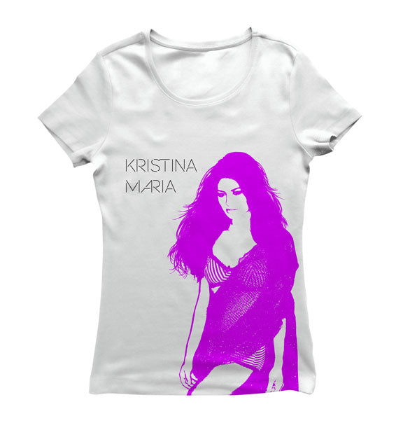 KRISTINA MARIA -Tell The World- Girls T-Shirt - White