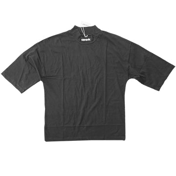 TWONK - Mock Neck 3/4 Sleeve Shirt - Black