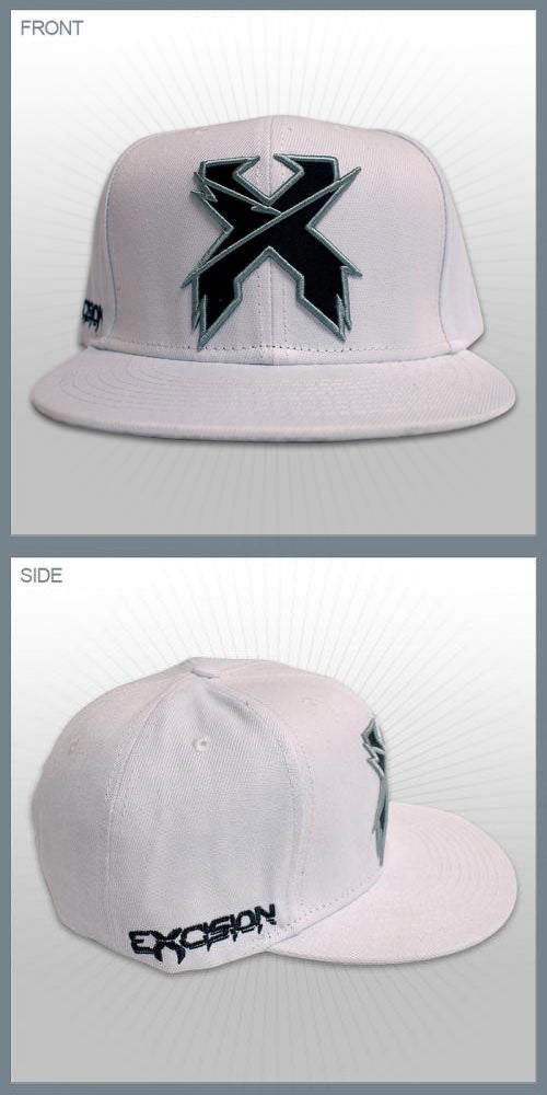 EXCISION -Snapback Hat- White