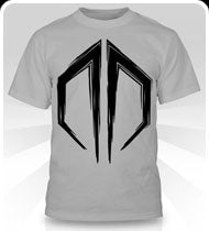 EXCISION -Destroid Logo- Black on Silver T-Shirt