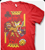 REDLIGHT KING -King- T-Shirt - RED