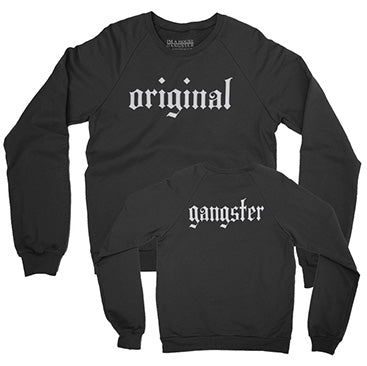 IAHG -Original Gangster- Black Crewneck