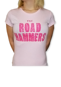THE ROAD HAMMERS Wings Girls Pink Shirt