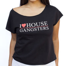IAHG -I Heart House Gangsters- Off-The-Sholder Crop Tee