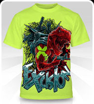 EXCISION -Cartoonrex- Neon T-Shirt