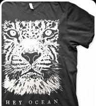 HEY OCEAN -Lion- T-Shirt -Black