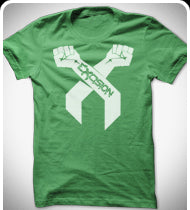 EXCISION White Arms T-Shirt - Green
