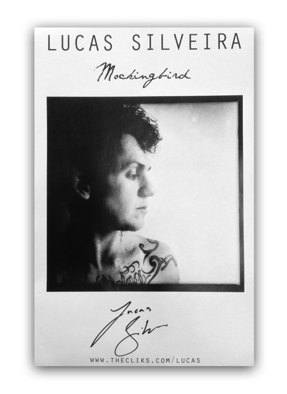 THE CLIKS -Mockingbird- AUTOGRAPHED Poster (White)