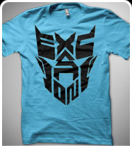 EXCISION -Robot Face- T-Shirt - Teal