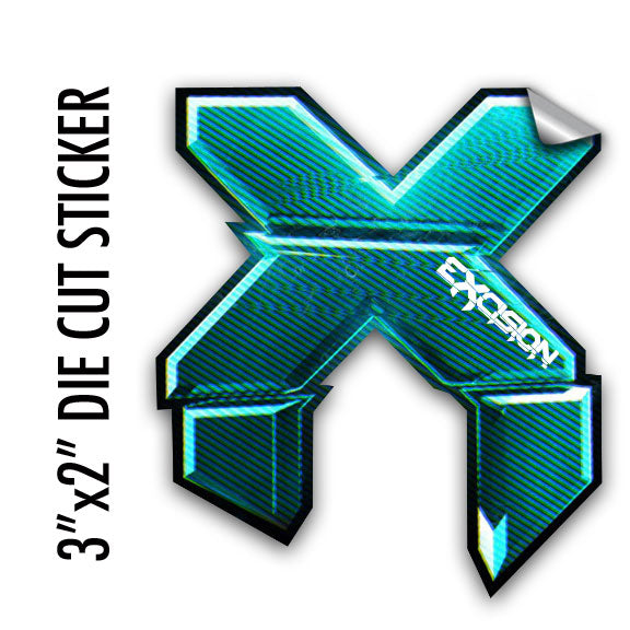 EXCISION -3DX- SM Sticker - Blue
