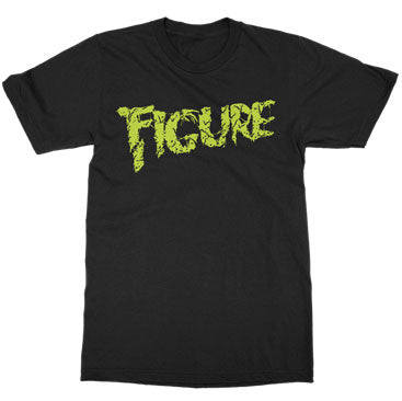 FIGURE Green Logo Black Tee