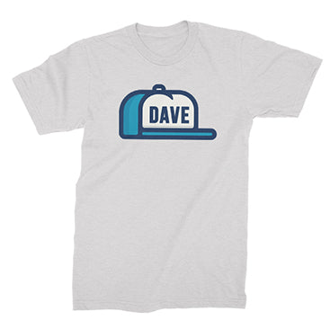 DAVE - Hat Tee - White