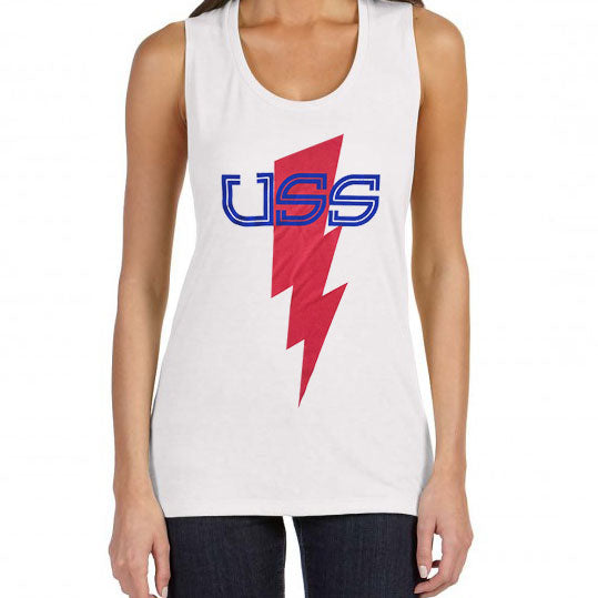 U.S.S. - Bolt - LADIES Flowy Scoop Muscle Tee
