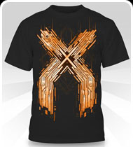 EXCISION -Metal X- Gold on Black T-Shirt