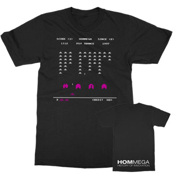 Hommega - Space Invaders - Black Tee