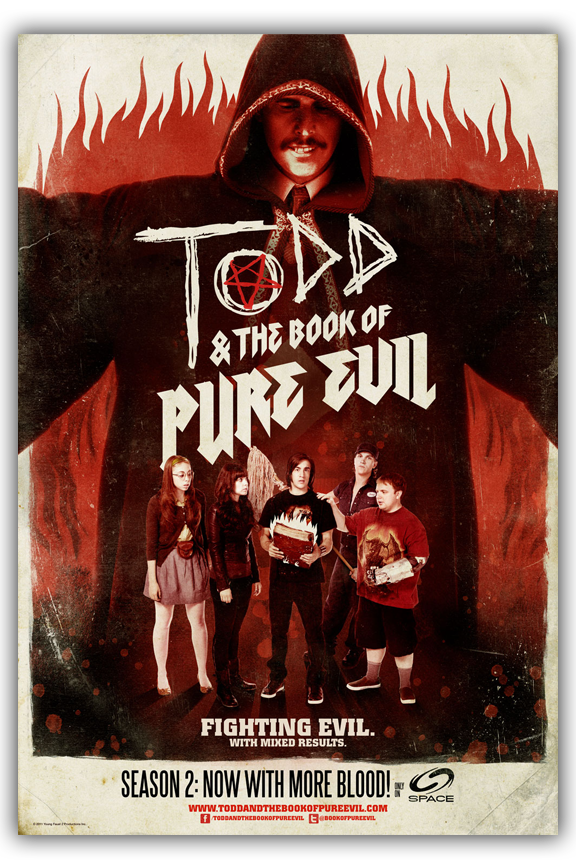 TODD and THE BOOK OF PURE EVIL -Season 2- Promo 11x17  Poster