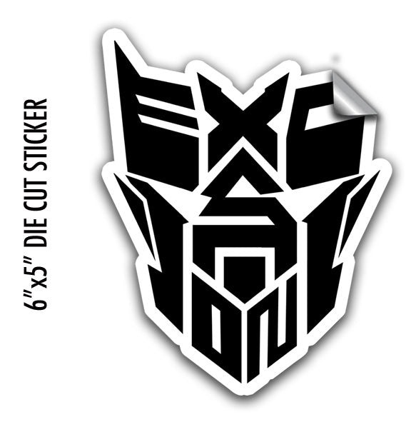 EXCISION -Robot Face- LG Sticker