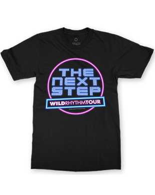 The Next Step 2016 - Neon Sign - Black T-Shirt