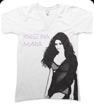 KRISTINA MARIA -Tell The World- Unisex V-Neck Tee - White