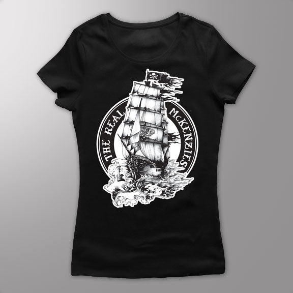 THE REAL MCKENZIES -Ship- GIRLS T-Shirt - Black