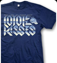 COYOTE KISSES -Logo- T-Shirt - Navy Blue