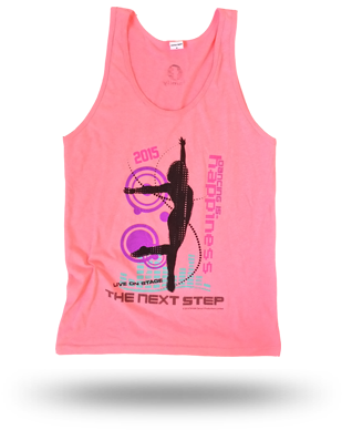 The Next Step 2015 Tour Happiness Tank Top: Neon Pink