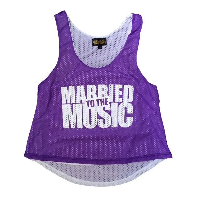 HOUSEWIFE The Mob Made Me Do It Mesh Tank Top - Purple