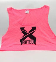 EXCISION -X Rated- Girls PINK Crop Top