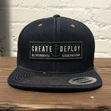 KT8 Apparel - Create And Deploy - Premium Denim Cap