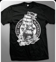THE REAL MCKENZIES -Ship- Guys T-Shirt - Black