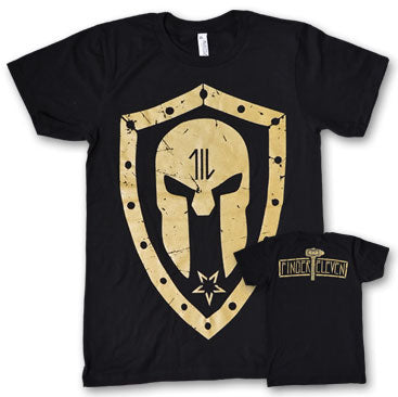 FINGER 11 - Gold Logo - Black T-Shirt