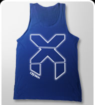 $20!!! EXCISION -X-Blur- Tank Top - Lapis Blue