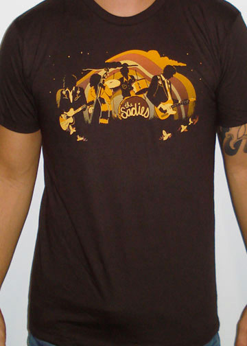 NEW! THE SADIES Guys Horizon Shirt - BROWN